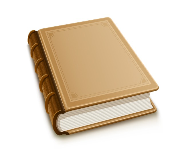 old-book-with-blank-cover - EPS+AI