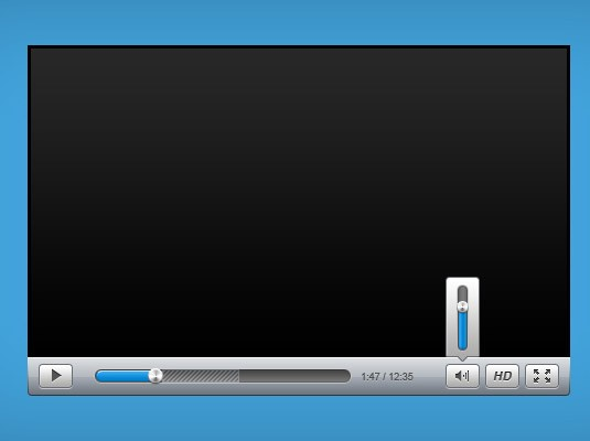 Sleek Video Player PSD
