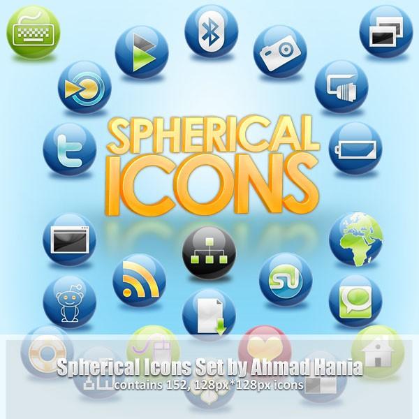 the spherical icon set
