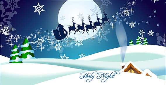 christmas greeting vector eps