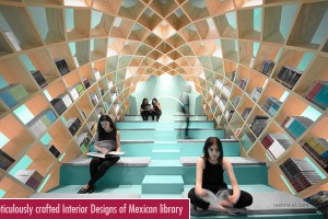 Meticulously crafted Interior Designs of Mexican library by Anagram