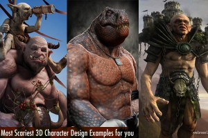 25 Most Scariest 3D Monster Character Design examples for your inspiration