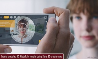 Create amazing 3D Models in mobile using Sony 3D creator app