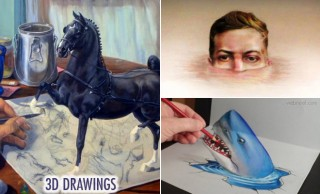 60 Beautiful 3D Drawings - Easy 3D Pencil drawings and Art works