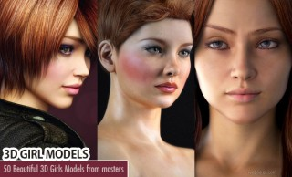 40 Beautiful 3D Girls and CG Girl Models from top 3D Designers