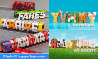 25 Creative 3D Typography Design Inspiration for you