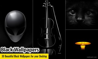 30 Beautiful Black Wallpapers for your Desktop