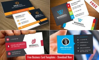 10 Professional Free Business Card Templates with source files - Download PSD AI EPS
