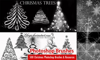 500 Christmas Photoshop Brushes and other Design Resources - Free Download