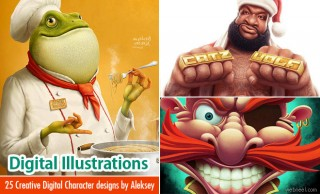 25 Creative Digital Illustrations and Digital Character designs by Aleksey Baydakov