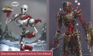 Scintillating Game character designs and Digital Paintings by Travis Anderson