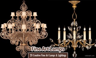 20 Creative Fine Art Lamps and Fine Art Lighting decorations