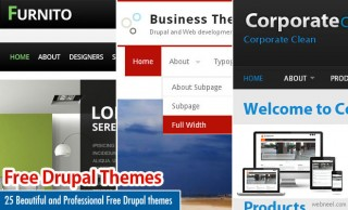 25 Beautiful and Professional Free Drupal themes for Web Designers