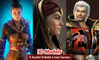 25 Beautiful 3D Models and 3D Game Characters for your inspiration