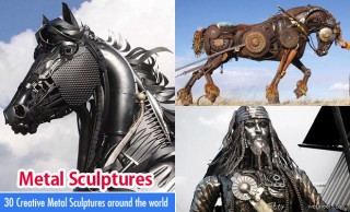 50 Beautiful and Creative Metal Sculptures and Metal Wall Sculptures