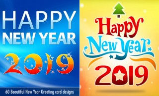 50 Beautiful New Year Greetings Card designs for your inspiration