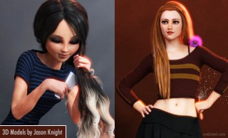 Cute 3D Models and 3D Character design ideas by Jason Knight
