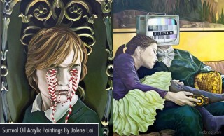 Beside You Series - Surreal Oil and Acrylic Paintings By Jolene Lai