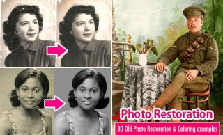30 Photo Restoration Examples - Old Photo Restoration and Coloring Inspiration