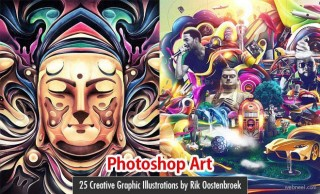 25 Creative Photoshop Art works and Graphic Illustrations by Rik Oostenbroek