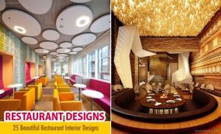 25 Most Beautiful Restaurant Designs and Bar Interior Designs