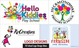 50 Creative School Logo Designs and Education Logo ideas