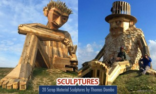 20 Stunning Scrap Material Wood Sculptures by Thomas Dambo