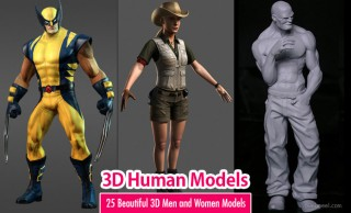 25 Beautiful 3D Human Models - 3D Men and Women Models