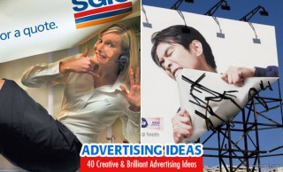 40 Creative and Brilliant Advertising Ideas for your inspiration