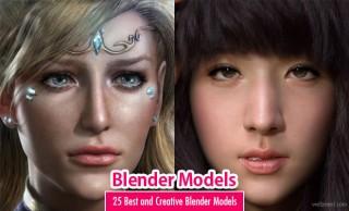 25 Best and Creative Blender Models for your inspiration