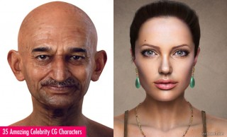 30 Amazing Celebrity 3D Models and CG Character Design Inspiration