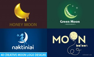 50 Creative Moon Logo Design examples for your inspiration