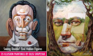 35 Mind-Blowing Illusion Paintings by Oleg Shuplyak - Find Hidden Figures