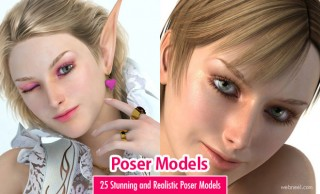 Poser 3D Models - 25 Stunning and Realistic 3D Girls Designs by Yukitan