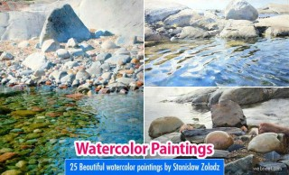 25 Realistic Watercolor paintings by Stanislaw Zoladz