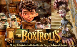 The Boxtrolls - 3D Stop Motion Animation Movie Character Designs Trailers and Wallpapers