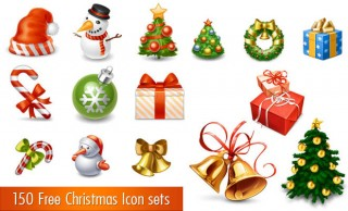 150 Free Christmas Icon Sets for Graphic and Web designers