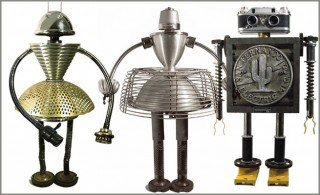 20 Incredible Metal Robot Sculptures by Gordon Bennett
