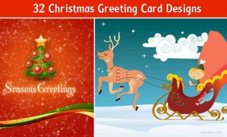 32 Creative Christmas Greeting Cards for your inspiration