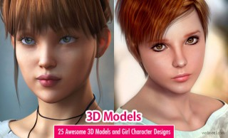 25 Awesome 3D Models and Girl Character Designs for your inspiration