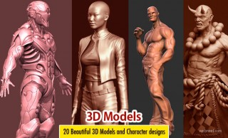 20 Beautiful 3D Models and Character designs for your inspiration