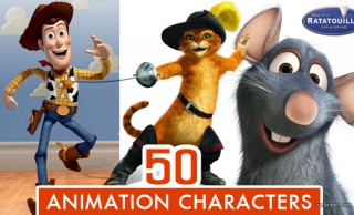 Top 50 Animated Movie Cartoon Characters of All Time
