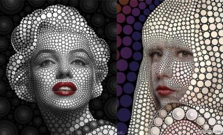 20 Celebrity Portraits Created by Circles - Digital Circlism by Ben Heine