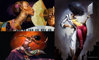 30 Stunning Black woman Paintings and Illustrations by Frank Morrison