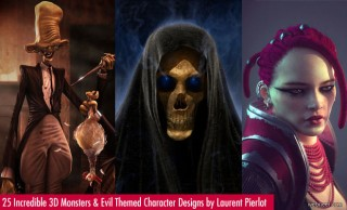 30 Incredible Monsters and Evil themed 3D Model Designs by Laurent Pierlot