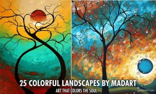 25 Mind blowing Colorful Landscapes by MADART - Ultra Modern Contemporary Art