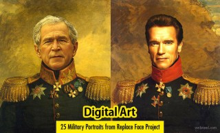 25 Military Portrait Digital Art works from Replace Face Project by Steve Payne