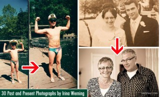 30 Past and Present Photography examples by Irina Werning - Back to the Future