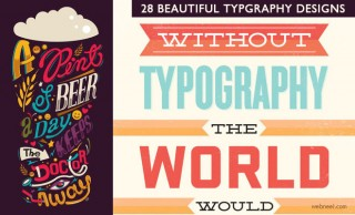 28 Creative Typography designs and illustrations for your inspiration