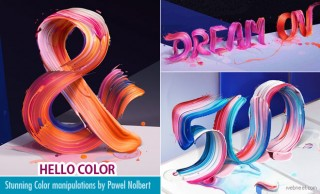 Hello Color - Stunning Color Manipulations and Typography Ads of Pawel Nolbert